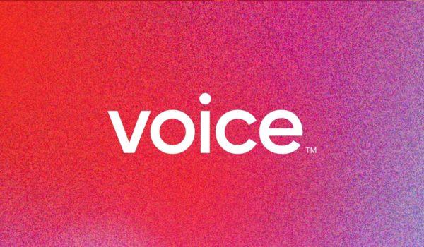 Voice Logo in Noise Gradient Banner