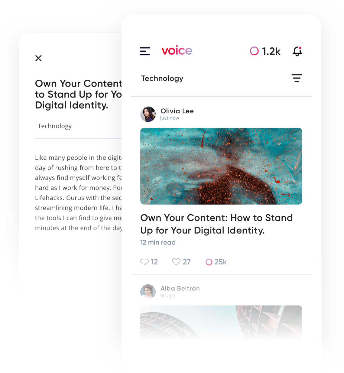 Get to Know Voice: Screenshot of Voice post